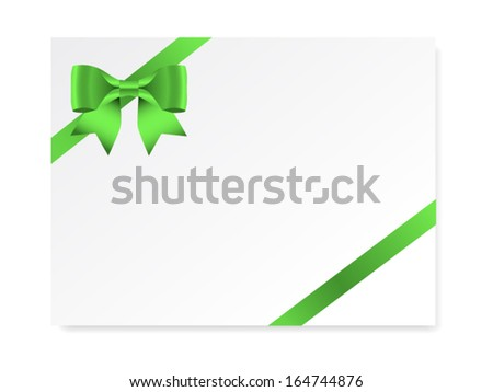 Single gift bow green color oblique stock vector 164744876 single gift bow of green color oblique ribbon on white vector negle Images