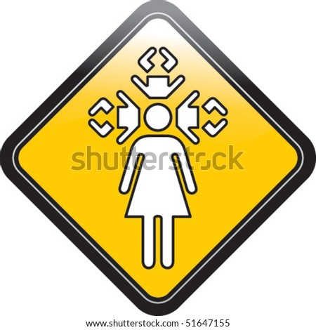 Single mother - stock vector