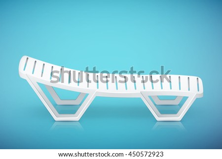 single plastic deck-chair beach inventory. eps10 vector illustration
