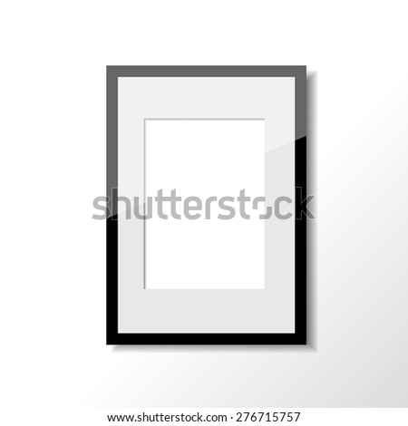 Single vertical frame on the wall