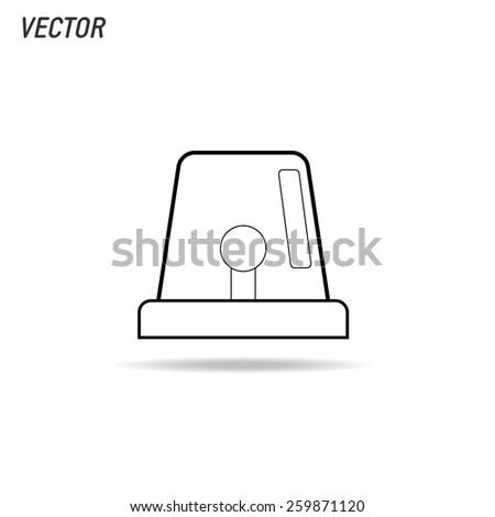 Siren icon isolated on white background vector illustration - stock vector