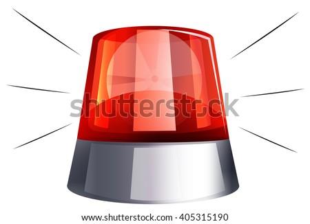 Siren light on white background illustration - stock vector