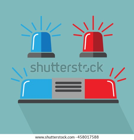 Siren set. Police flasher or ambulance - stock vector
