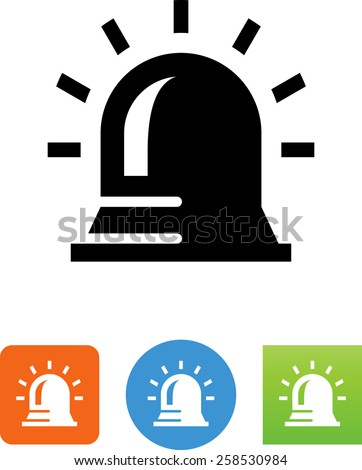 Siren symbol for download. Vector icons for video, mobile apps, Web sites and print projects.  - stock vector