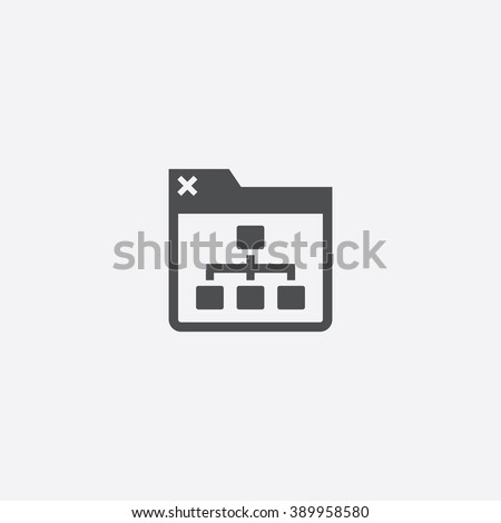 site map Icon - stock vector