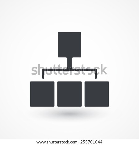 Site map icon for your projects. Network - stock vector