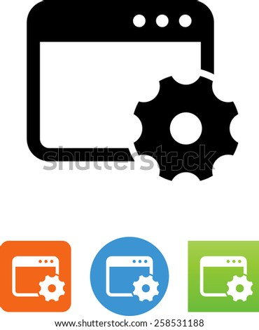 Site optimization symbol for download. Vector icons for video, mobile apps, Web sites and print projects.  - stock vector