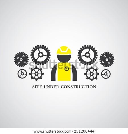 site under construct vector symbol  - stock vector