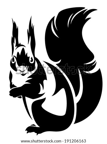 Squirrel Outline Stock Images Royalty Free Images Vectors