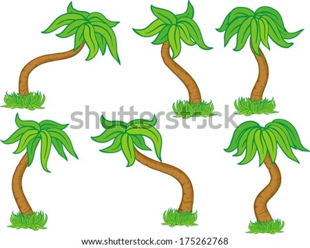 six kind of cartoon trees