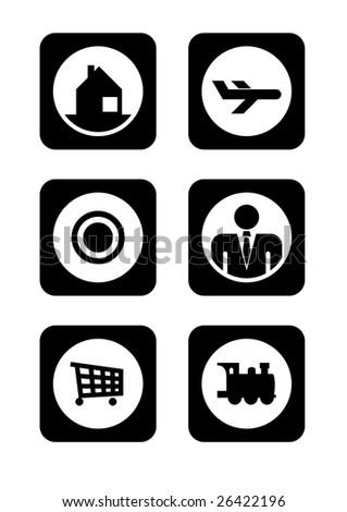 Six signs - stock vector