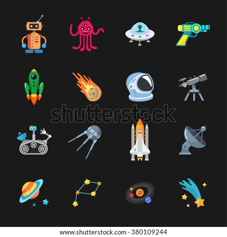 sixteen stylish space icons