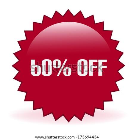 Sixty Percent Discount Sticker - stock vector