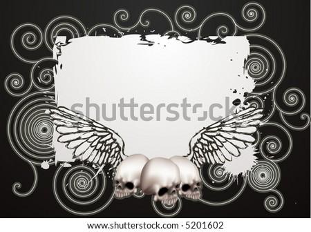 Skate grunge background.  An illustration of a vintage skate style grunge background - stock vector