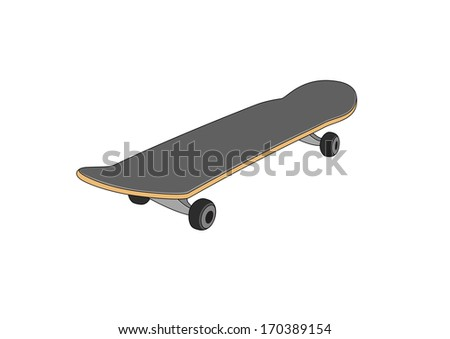 Skateboard - stock vector