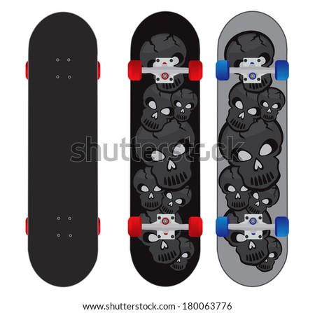 skateboard deck design illustration vector