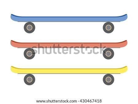 skateboard set cartoon vector - stock vector