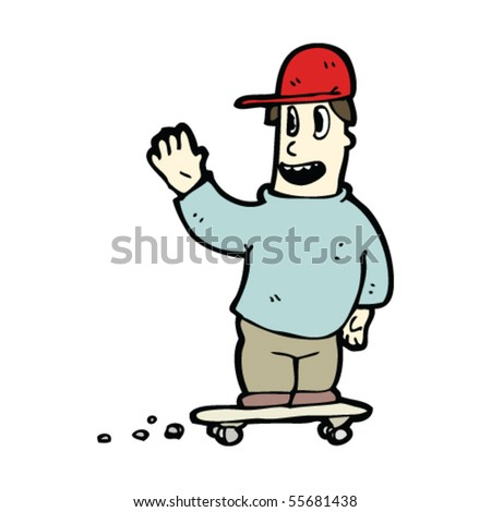 skater guy cartoon