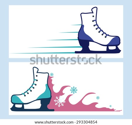 Skates digital design, vector illustration eps 10.