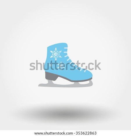 Skates. Icon for web and mobile application. Vector illustration on a white background. Flat design style.