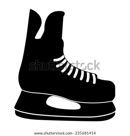 hockey skate stock vectors   vector clip art shutterstock ice skate clip art free ice skate clip art image
