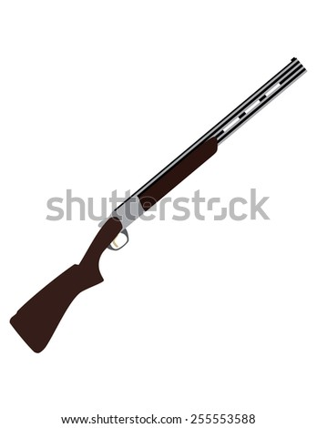 Skeet rifle vector isolated, skeet shot, old rifle, weapon, sport weapon - stock vector