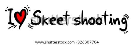 Skeet shooting love - stock vector
