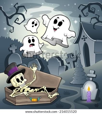 Skeleton theme image 4 - eps10 vector illustration. - stock vector