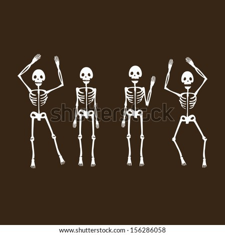 Skeletons - stock vector