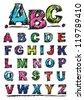 Sketch Alphabet - stock vector
