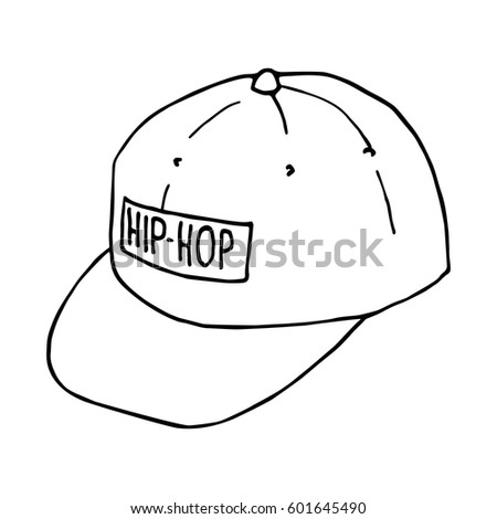 Sketch Baseball Caps Hiphop Headwear Vector Stock-Vektorgrafik ...