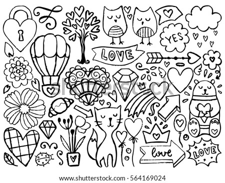 flower heart stock images, royalty-free images & vectors ... - Coloring Pages Hearts Stars