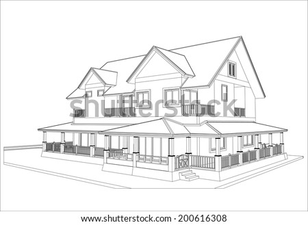house design stock photos images pictures shutterstock - House Sketch Design