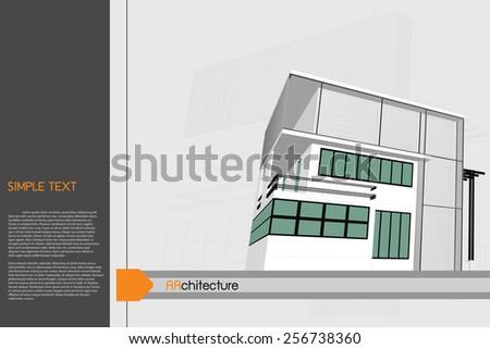 sketch design of office,vector - stock vector