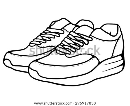 Sketch doodle sneakers for your creativity - stock vector