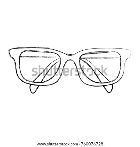 Cat eye glasses outline sunglasses vector stock vector 491444983 sketch draw glasses cartoon ccuart Gallery