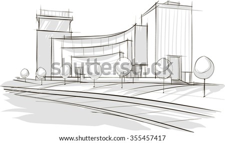 Modern Architecture Drawing architecture sketch stock images, royalty-free images & vectors