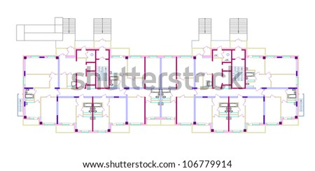 Sketch internal combustion engine. Vector EPS10 - stock vector