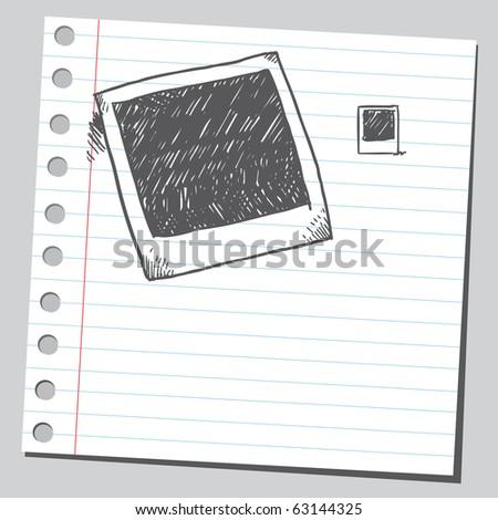 Sketch of a photo frames - stock vector