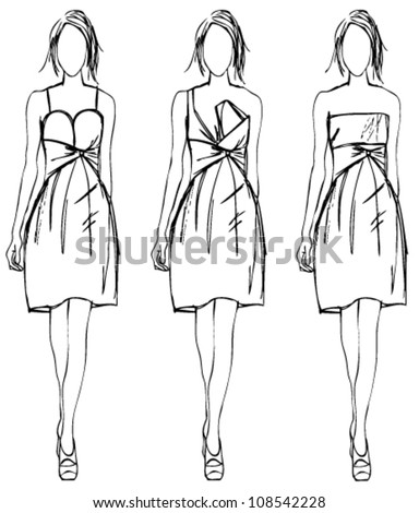Dress Sketch Stock Images, Royalty-Free Images & Vectors ...