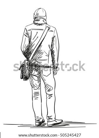 Man Standing Back Drawing | www.pixshark.com - Images ...