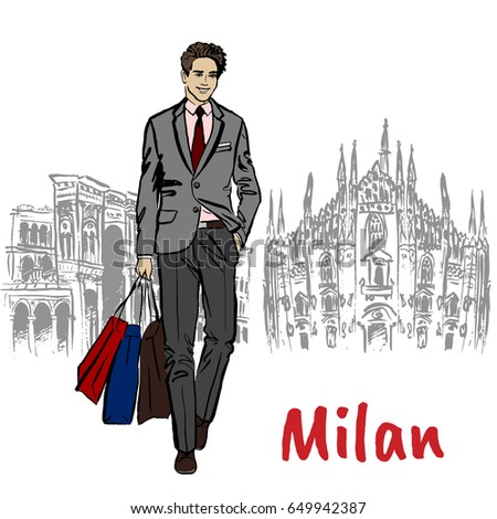 Milano shopping stock images royalty free images for Cheap shopping in milan