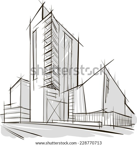 Architect Buildings Sketches architecture sketch stock images, royalty-free images & vectors