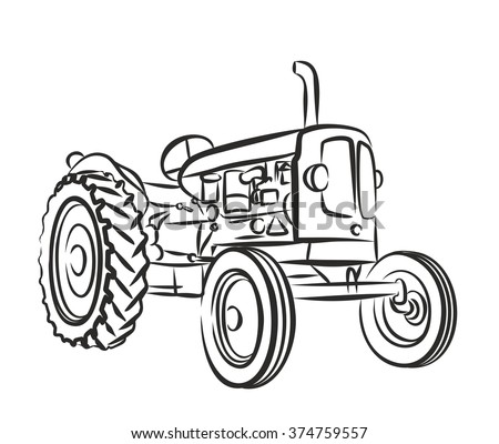 197557 Old Tractor Drawings