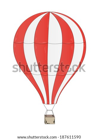 sketch of the balloon on white background - stock vector