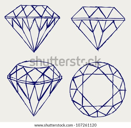 Diamond Drawing Stock Images Royalty Free Images