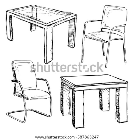 Chair Sketch furniture sketch stock images, royalty-free images & vectors