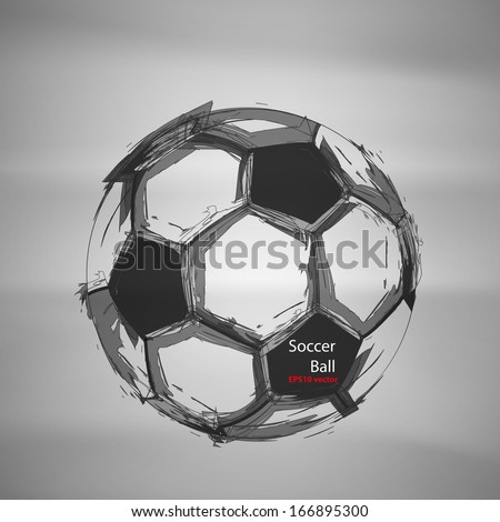 Sketch Soccer Vector - stock vector