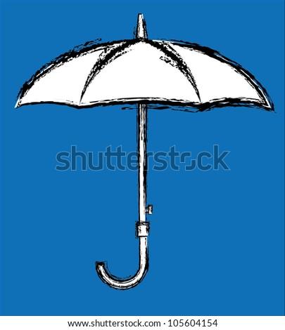 Sketch Umbrella - stock vector