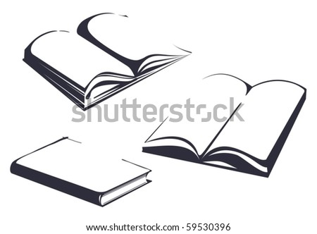 Sketches of books - stock vector